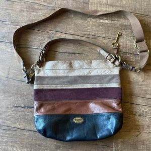 Large Fossil Crossbody Purse with Key